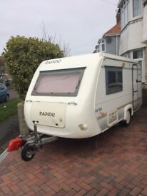 1996 RAPIDO POP TOP 2 BIRTH SHOWER, TOILET HOT WATER,HEATING AND FULL AWNING PLUS WHEEL MOVERS