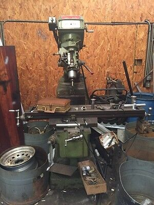 Used Conventional Knee Mill Millman 50 X 10 Table X-axis Power Feed Bridgeport