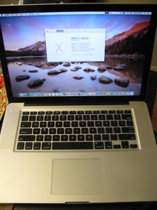 Macbook Pro 15 i7 2.4ghz, 500gb hdd, 4gb ram, battery/charger