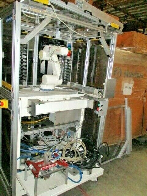 Chip Pick and Place Assembly, 6-Axis Industrial Robot Enclosure, 100167