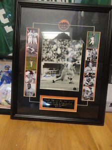 Willie Mays Autographed 8x10 Custom Framed Say Hey Authentic
