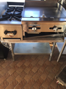2 Open Burner Ovens Grill and Stand