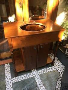 Period style timber bathroom vanity unit Balmain Leichhardt Area Preview