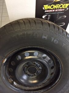 "16"" Winter Tires - Barum Polaris 3 - 235/70 R16 T - Like NEW! London Ontario image 3"