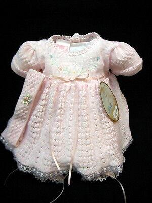Nwt Willbeth Pink Knit Lace Dress 3Pc Preemie Newborn Headband Baby Girls
