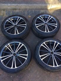 "4x 17"" alloys- gt86 wheels and nearly new tyres"