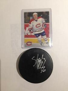 Stephane Robidas NHL Montreal Canadiens autograph puck