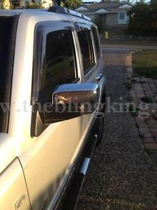 Jeep Commander Chrome Mirror cover Door Handle Cover Trim Kit 2005-2010