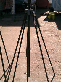 these 3 tripods, sound and light, defender brand, good condition,7`6 high max