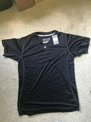 Easton Engineered for Performance Black V-neck T shirt Size Medium
