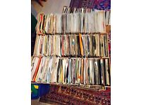 """Job lot of 1,000 random 7"""" vinyl single records"""