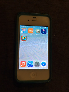 Unlocked iPhone 4S 16GB white - new screen, Otterbox