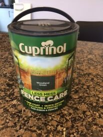 Cuprinol Fence Paint - 5 Litres - Unopened Tin