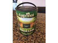 Cuprinol Fence Paint - 5 Litres - Unopened Tin