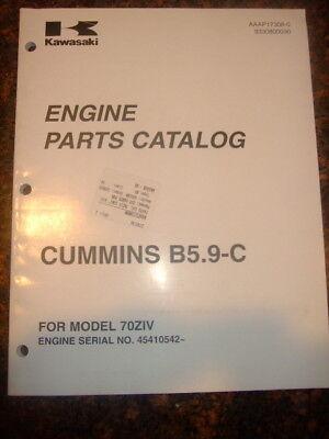 Kawasaki Cummins Engine B5.9-c Wheel Loader Part Manual