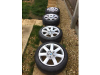 "BMW 17"" alloys with good tyres"