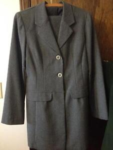 Grey Woman's Suit Jacket and Pants - Size 8 - LIKE NEW