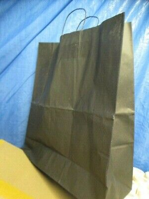 Black Twist Handle Paper Carrier Bags 45 x 15 x 49cm - approx 150