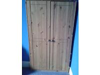 Pine nursery wardrobe