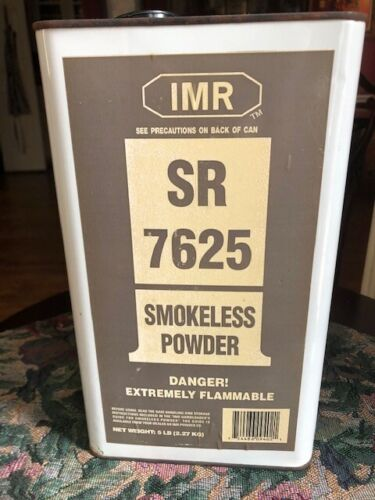 Vintage  IMR-7625 Smokeless Powder Canister,  EMPTY