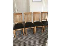 4 teak dining chairs