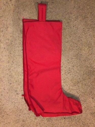 RED HEAVY CORDURA NYLON TALL ENGLISH CARRY BOOT BAG 24 1/2