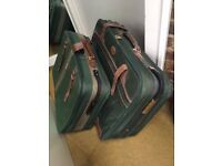 SUITCASES - wheeled - dark green - good condition - hardly used