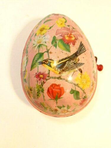 vintage Mattel tin wind -up musical toy Easter egg (not working)