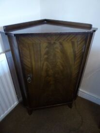 Strongbow dark solid wood corner cabinet