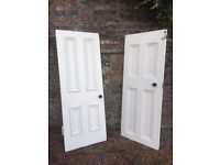 Reclaimed Victorian Four Panel Solid Pitch Pine Wooden Doors