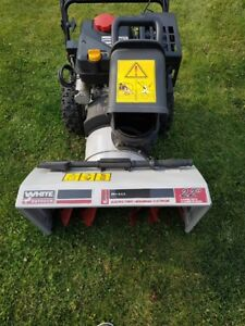 22'' White Outdoor Two-Stage Snowblower - 300 series