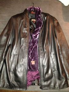 Women's Danier Black Leather Jacket - Size S