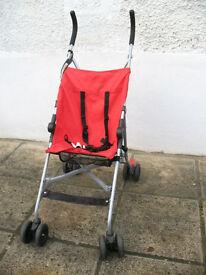 Umbrella Fold Pushchair, Red