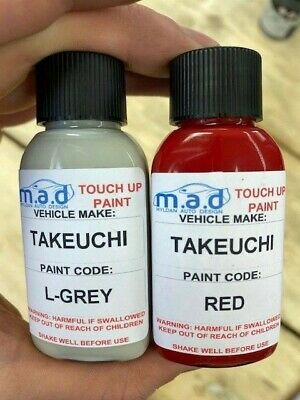 Red Grey Touch Up Paint Kit For Takeuchi Tb210 Tb216 Tb219 Micro Mini Digger