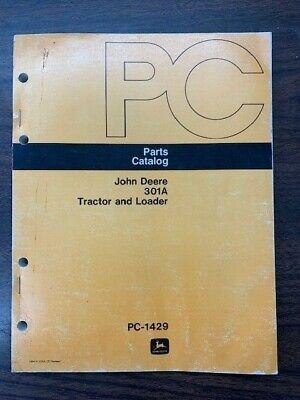 John Deere 301a Tractor Loader 1974 Parts Catalog Manual Pc-1429