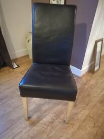 Leather Dining Room Chairs (x 4)