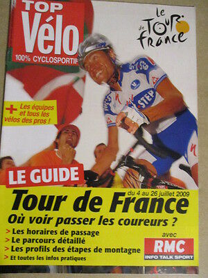 VELO : GUIDE DU TOUR DE FRANCE : 2009 :  TOP VELO 100% CYCLOSPORTIF