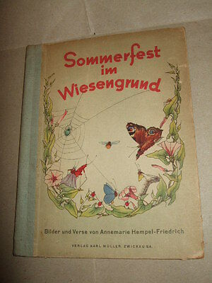 Sommerfest im Wiesengrund,1945, sehr selten!!, Bilder-Kinderbuch