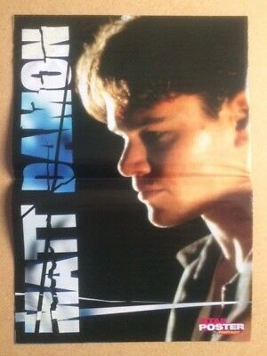 MATT DAMON Original Vintage Star Poster Fantasy German Magazine Poster 1998
