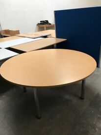1600mm Dia Round Office Table - Good Condition