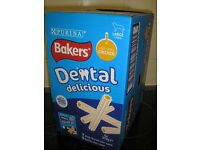 Bakers Dental Delicious Chews for Large Dogs (Box of 6 pks x 270g, 7 sticks per pk) Chicken flavour