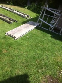ladders and scaffold board