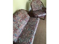 Garden / Conservatory Chairs   Three Seater + Two Armchairs