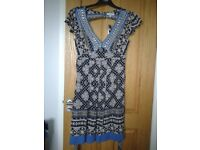 Blue and navy tea dress from Red Herring size 10