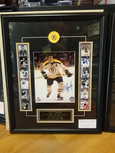 PHIL ESPOSIITO custom framed autographed 8x10 BOSTON BRUINS
