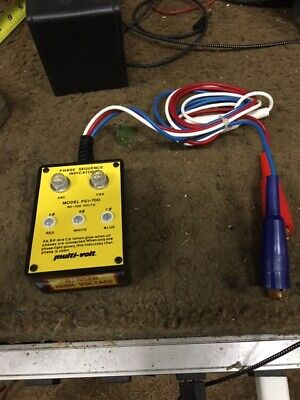Avo Multi-volt Phase Sequence Indicator Model Psi-700 W Case And Leads