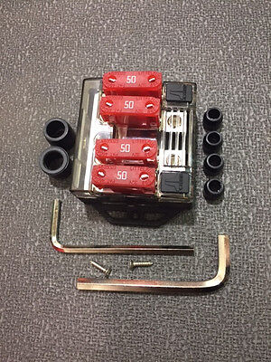 OFFROAD SAND RAIL DUNE BUGGY ULTRA HEAY DUTY FOUR 4 POSITION 50 AMP FUSE HOLDER