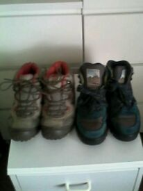 Walking boots size 4 x2