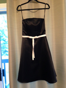Black Sateen Dress