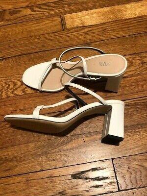 ZARA - Womens Sandals Size 37 - US Size 6.5 - WHITE